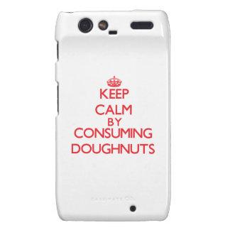 Keep calm by consuming Doughnuts Droid RAZR Covers