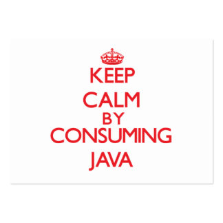 Keep calm by consuming Java Business Card Templates