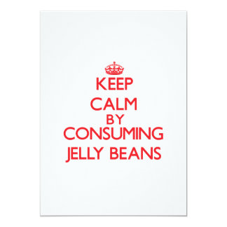 Keep calm by consuming Jelly Beans Personalized Invite