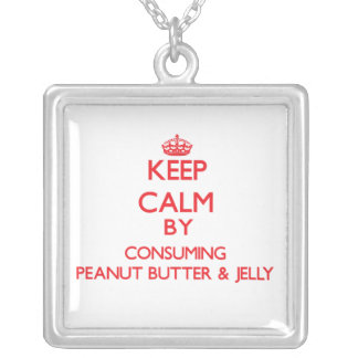 Keep calm by consuming Peanut Butter Jelly Personalized Necklace