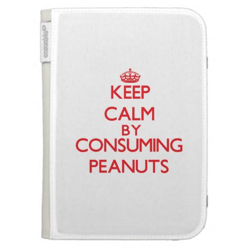 Keep calm by consuming Peanuts Kindle Keyboard Case
