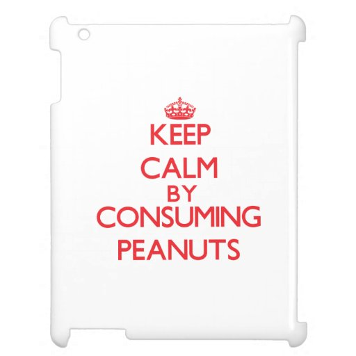 Keep calm by consuming Peanuts iPad Cover