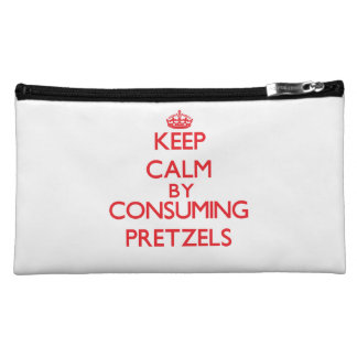 Keep calm by consuming Pretzels Cosmetic Bag