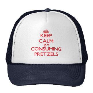 Keep calm by consuming Pretzels Trucker Hat
