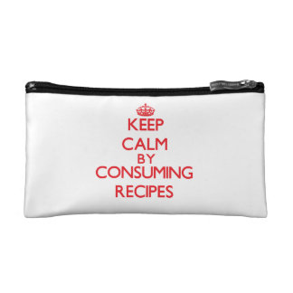 Keep calm by consuming Recipes Makeup Bags