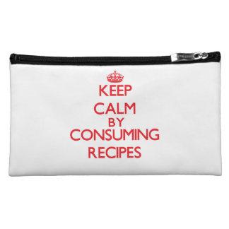 Keep calm by consuming Recipes Makeup Bag