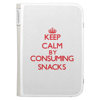 Keep calm by consuming Snacks Kindle 3 Cases