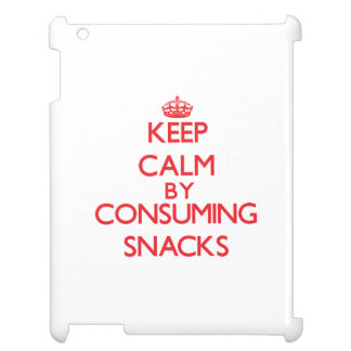 Keep calm by consuming Snacks iPad Cover