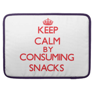 Keep calm by consuming Snacks Sleeve For MacBook Pro