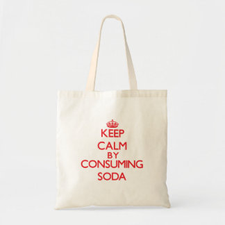 Keep calm by consuming Soda Canvas Bags