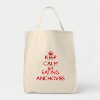 Keep calm by eating Anchovies Tote Bag
