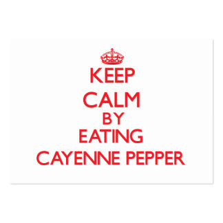 Keep calm by eating Cayenne Pepper Business Card Template