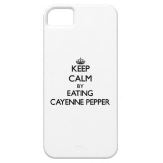 Keep calm by eating Cayenne Pepper iPhone 5 Case