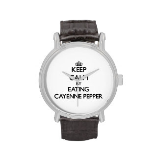 Keep calm by eating Cayenne Pepper Wrist Watch