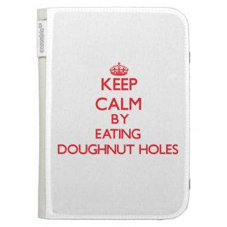 Keep calm by eating Doughnut Holes Kindle Case