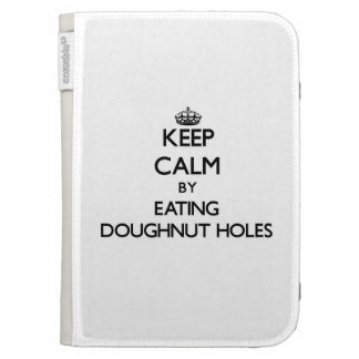 Keep calm by eating Doughnut Holes Kindle 3G Cover