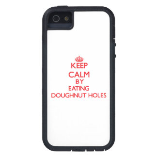 Keep calm by eating Doughnut Holes iPhone 5 Cover