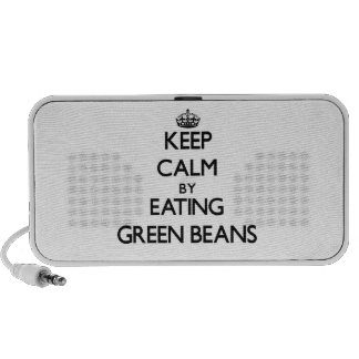 Keep calm by eating Green Beans Mp3 Speakers
