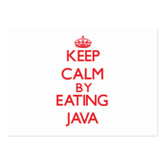 Keep calm by eating Java Business Card