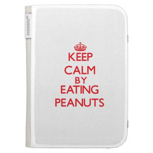 Keep calm by eating Peanuts Kindle Folio Cases