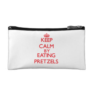 Keep calm by eating Pretzels Cosmetics Bags
