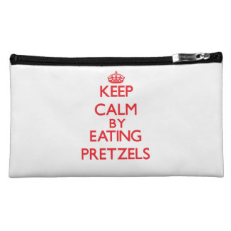 Keep calm by eating Pretzels Cosmetic Bags