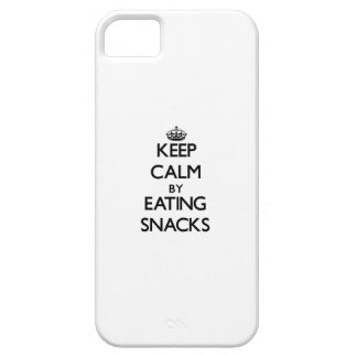 Keep calm by eating Snacks Case For The iPhone 5