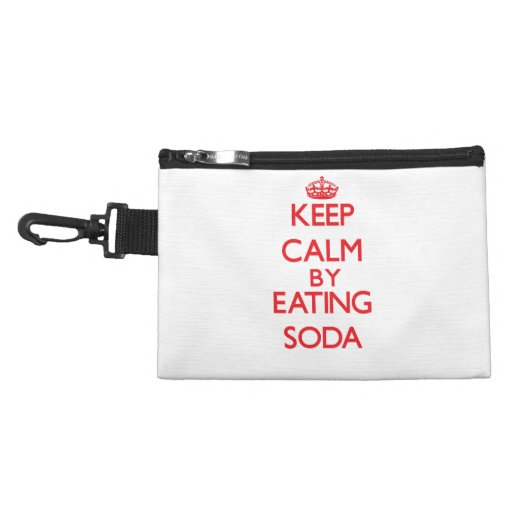 Keep calm by eating Soda Accessories Bags