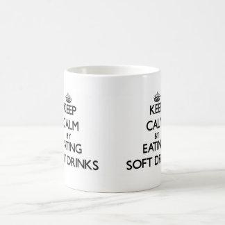 Keep calm by eating Soft Drinks Basic White Mug