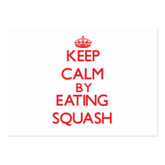 Keep calm by eating Squash Business Card Template