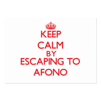 Keep calm by escaping to Afono Samoa Business Card Templates