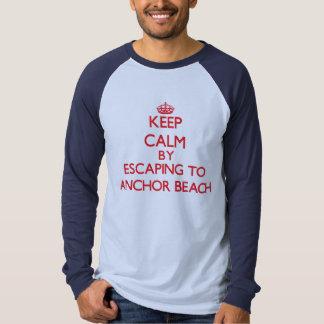 Keep calm by escaping to Anchor Beach Connecticut Tees