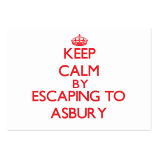 Keep calm by escaping to Asbury New Jersey Business Card
