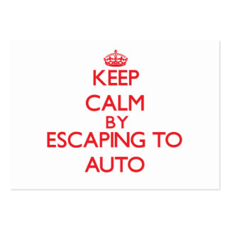 Keep calm by escaping to Auto Samoa Business Cards