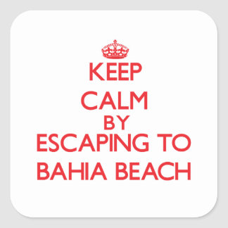 Keep calm by escaping to Bahia Beach Florida Stickers