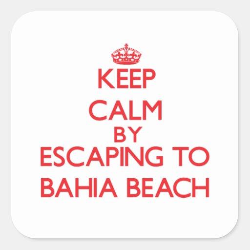 Keep calm by escaping to Bahia Beach Florida Stickers