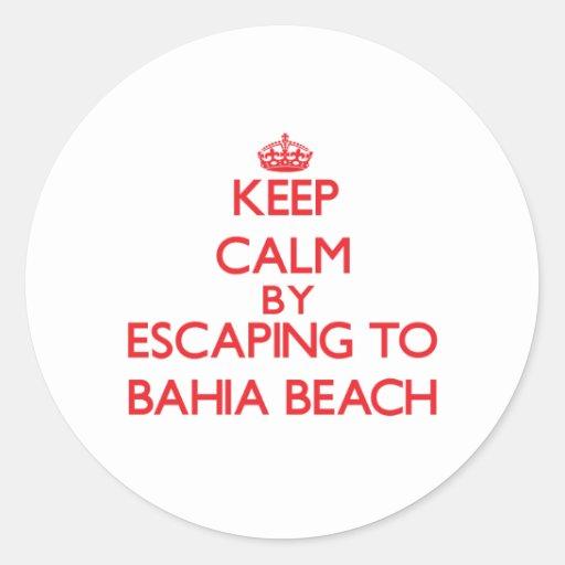 Keep calm by escaping to Bahia Beach Florida Sticker