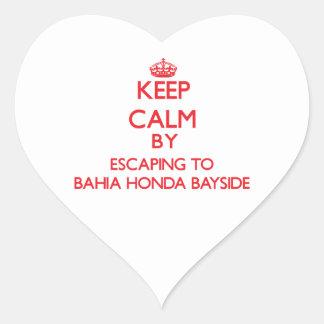 Keep calm by escaping to Bahia Honda Bayside Flori Heart Sticker