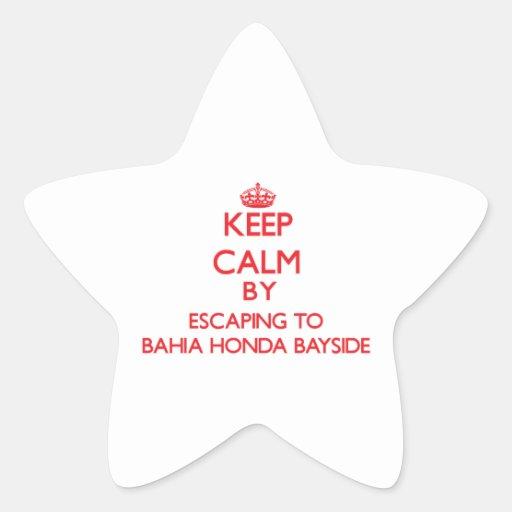 Keep calm by escaping to Bahia Honda Bayside Flori Sticker
