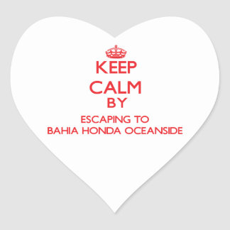 Keep calm by escaping to Bahia Honda Oceanside Flo Stickers
