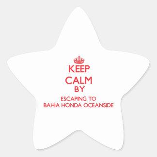 Keep calm by escaping to Bahia Honda Oceanside Flo Stickers