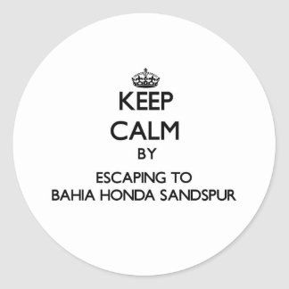 Keep calm by escaping to Bahia Honda Sandspur Flor Stickers