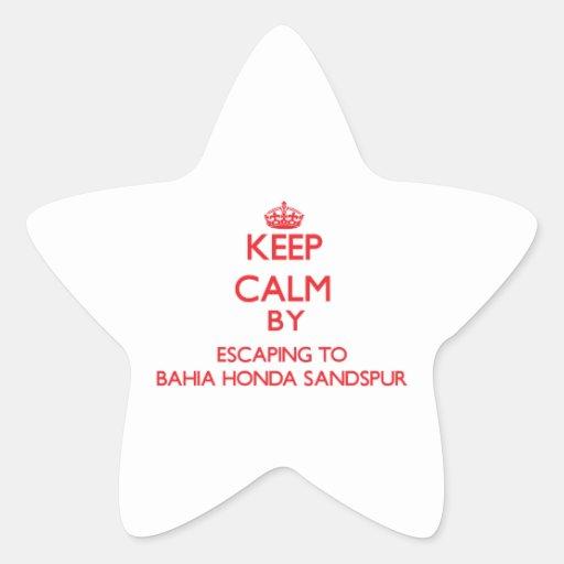 Keep calm by escaping to Bahia Honda Sandspur Flor Stickers