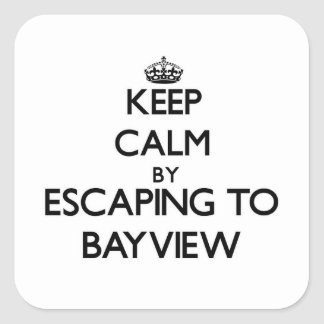 Keep calm by escaping to Bayview Massachusetts Sticker