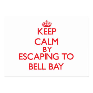 Keep calm by escaping to Bell Bay Michigan Business Card Template