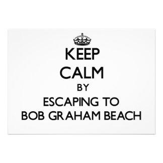 Keep calm by escaping to Bob Graham Beach Florida Custom Announcements