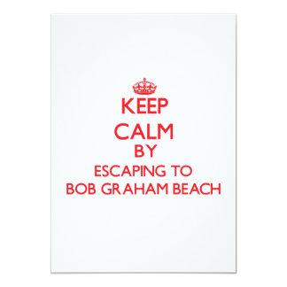 Keep calm by escaping to Bob Graham Beach Florida Custom Invites