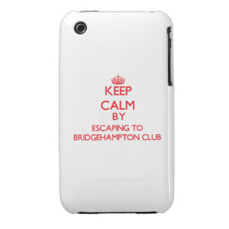 Keep calm by escaping to Bridgehampton Club New Yo Case-Mate iPhone 3 Case