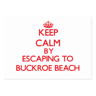 Keep calm by escaping to Buckroe Beach Virginia Pack Of Chubby Business Cards