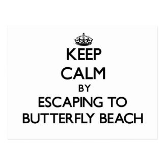Keep calm by escaping to Butterfly Beach Californi Post Cards